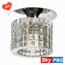 Стеклянный светильник со светодиодной лампой