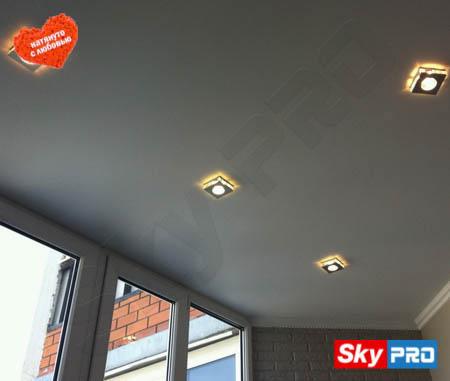 Выбираем натяжной потолок для лоджии