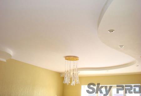 Тканевые потолки в квартире фото